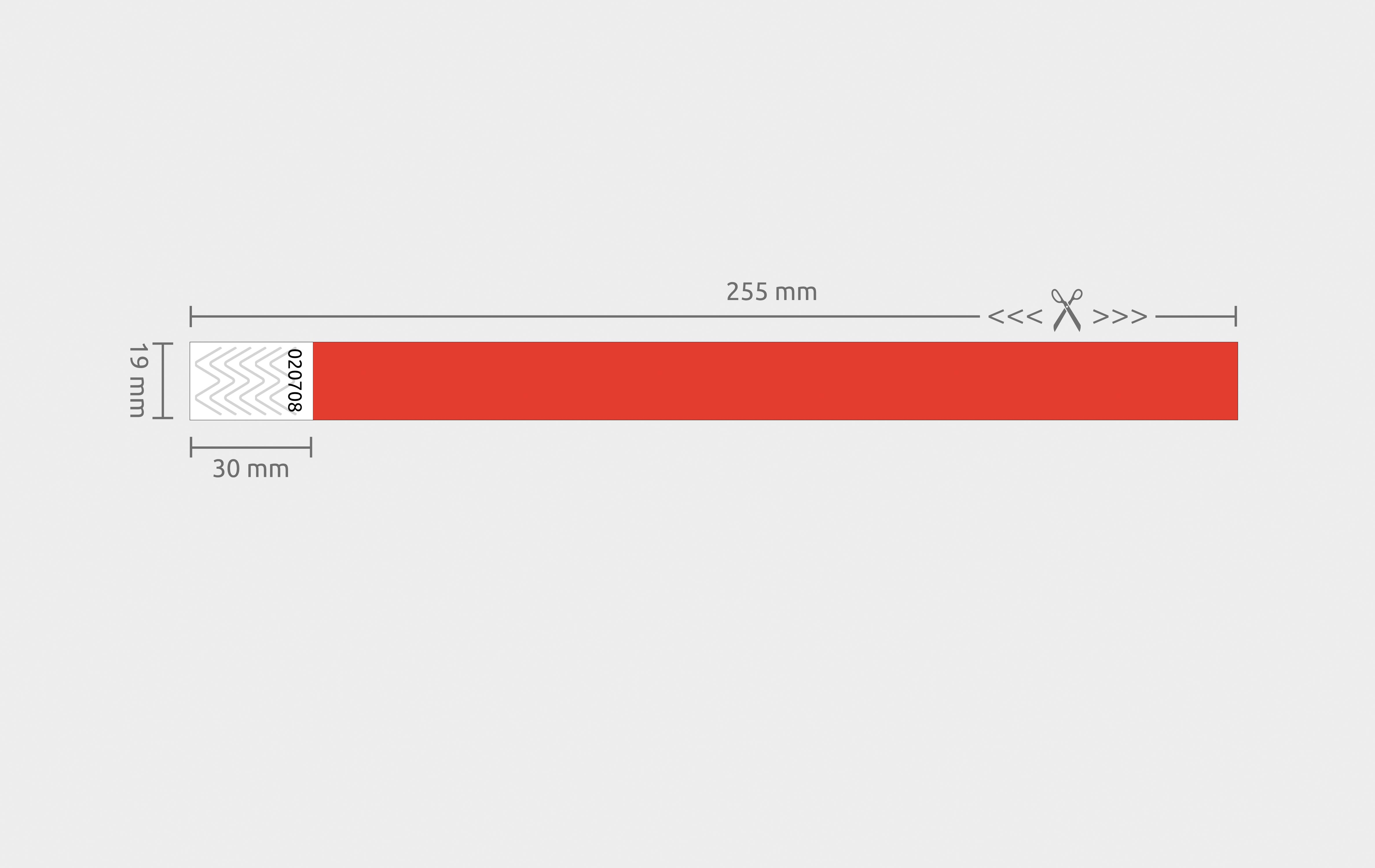 100er VPE Securebänder Tyvek® 19 mm - Rot
