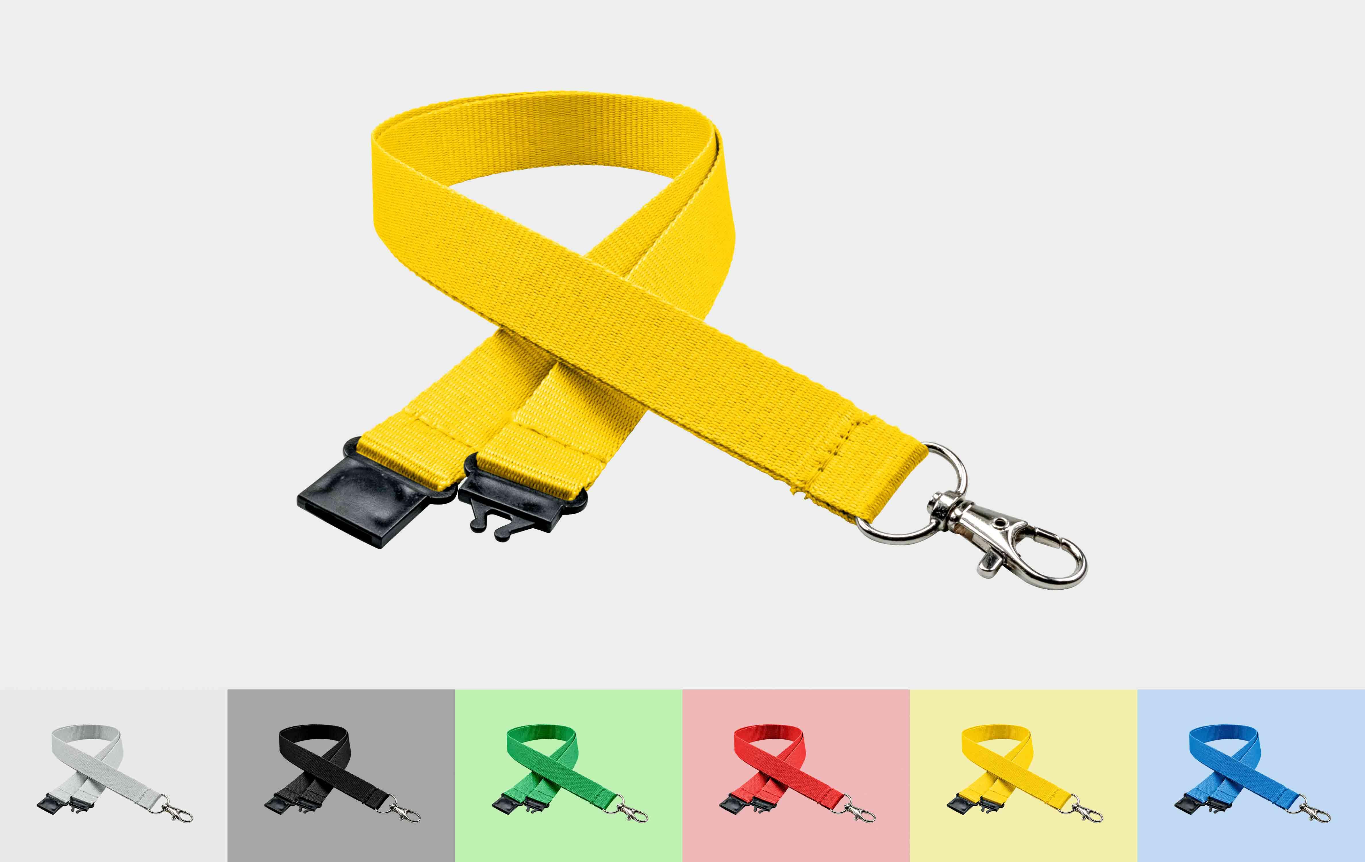 10 Stück Schlüsselbänder 20 mm, easy going Haken, Sicherheitsverschluss