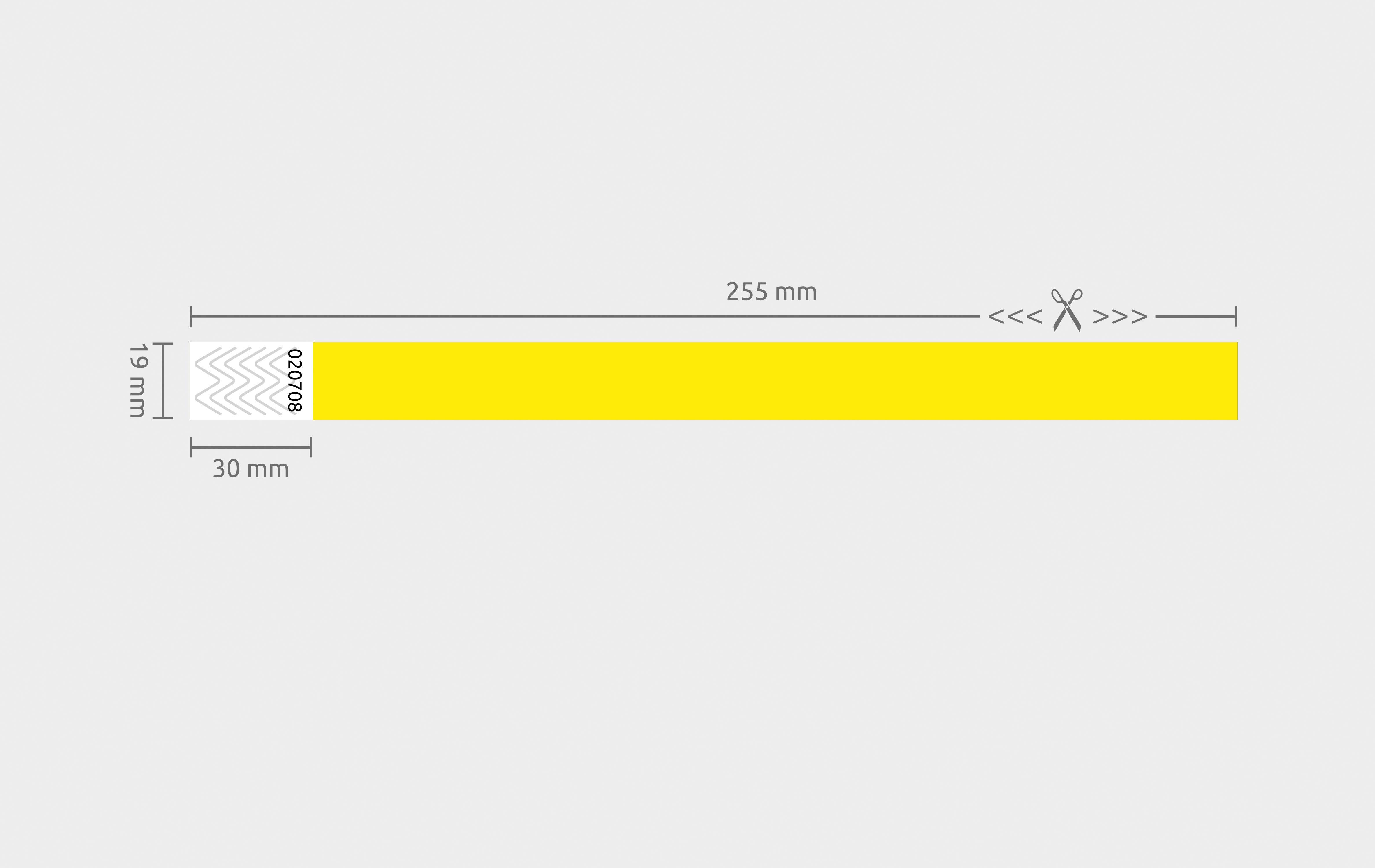 1000er VPE Securebänder Tyvek® 19 mm - Gelb