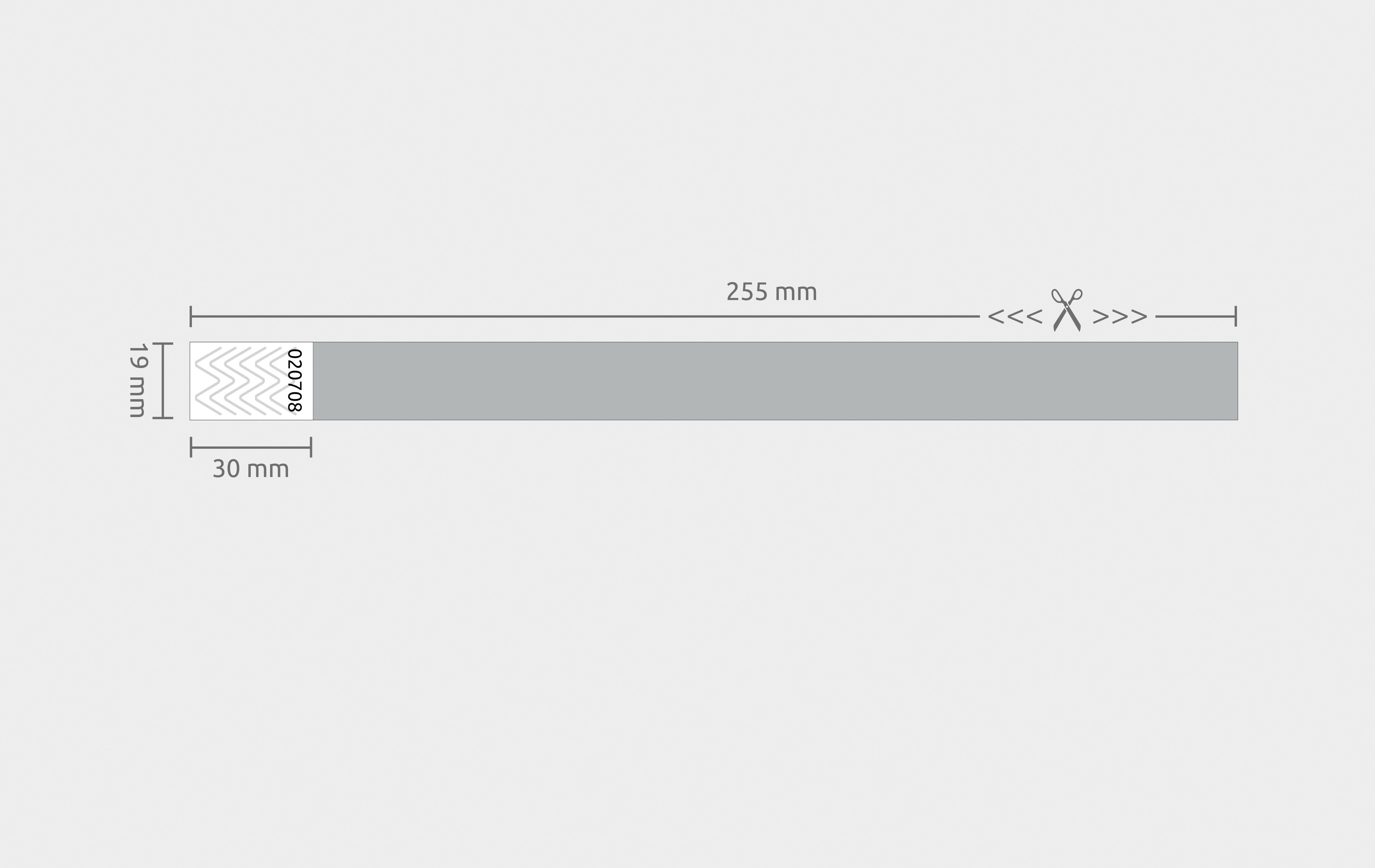 1000er VPE Securebänder Tyvek® 19 mm - Silber