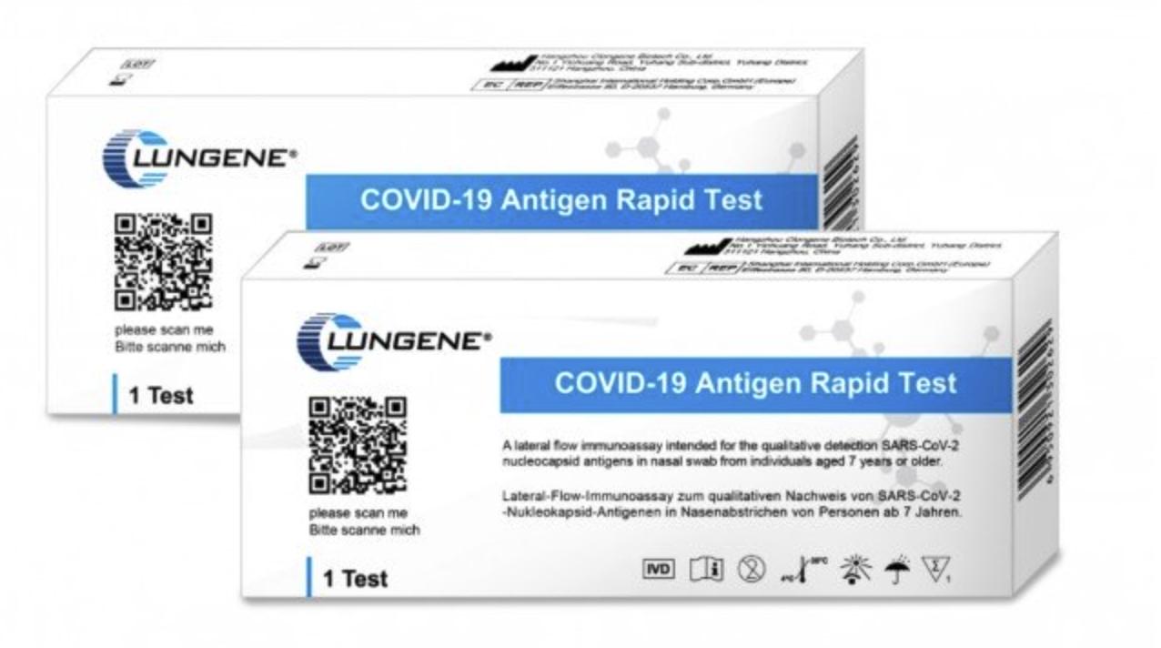 Clungene COVID 19 Antigen Nasenabstrich Laientest