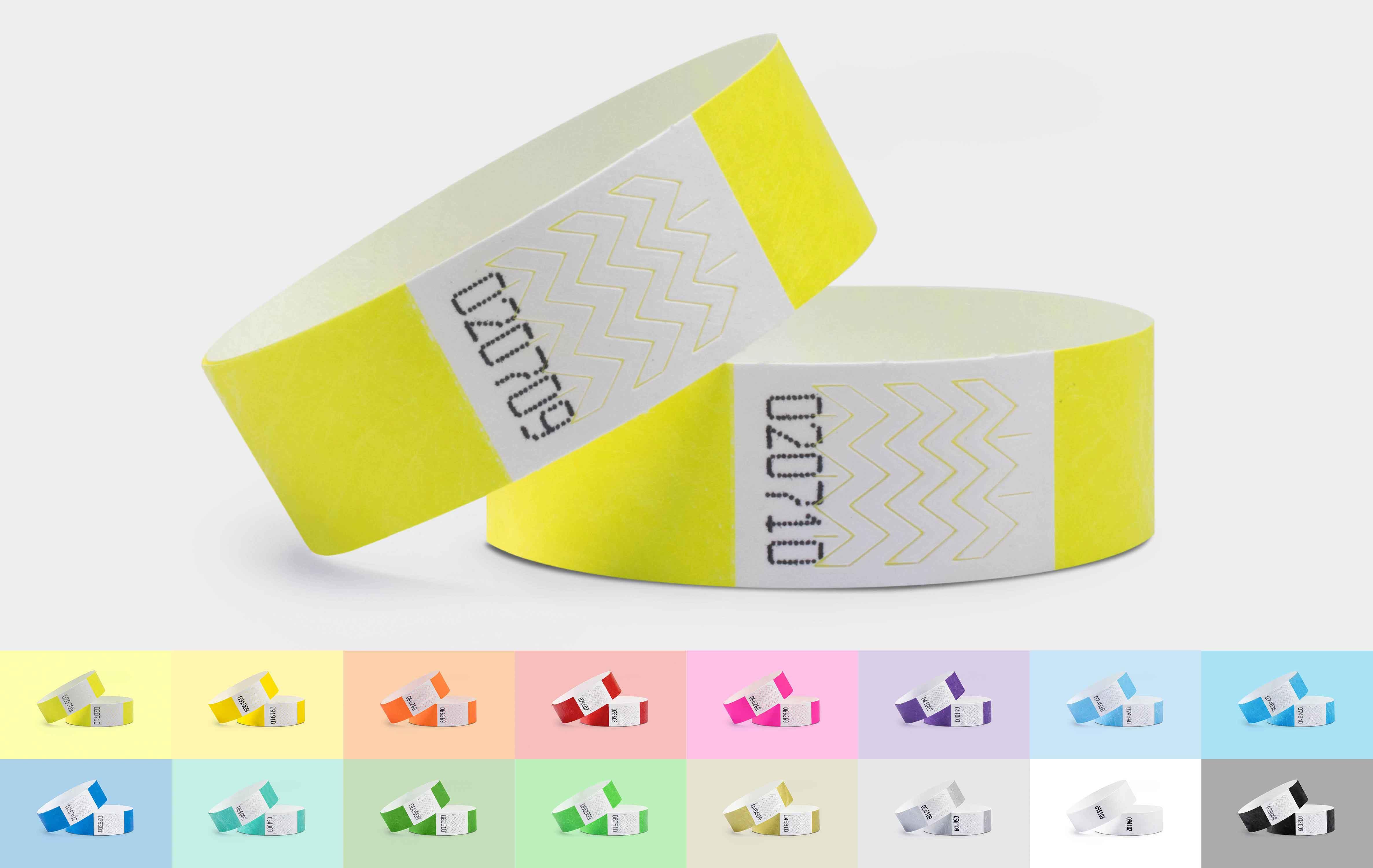 1000er VPE Securebänder Tyvek® 19 mm - Neongelb