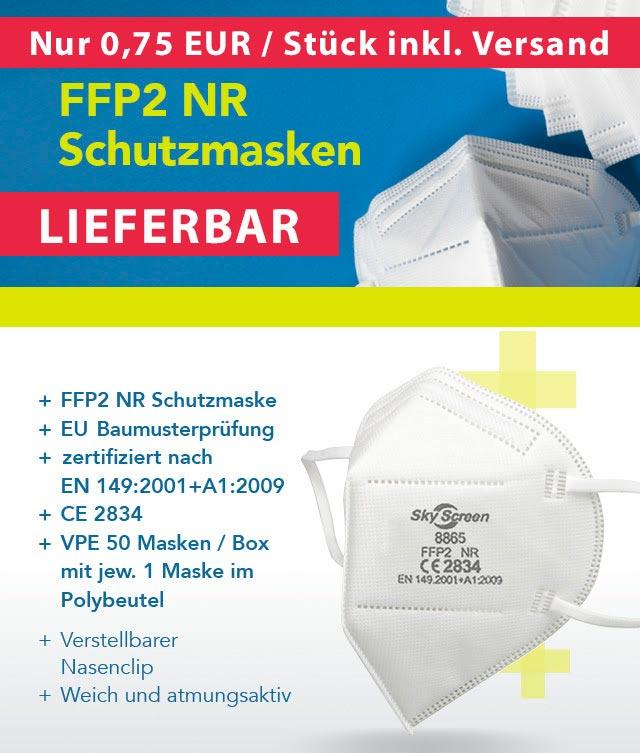 50er Pack FFP2 Schutzmaske