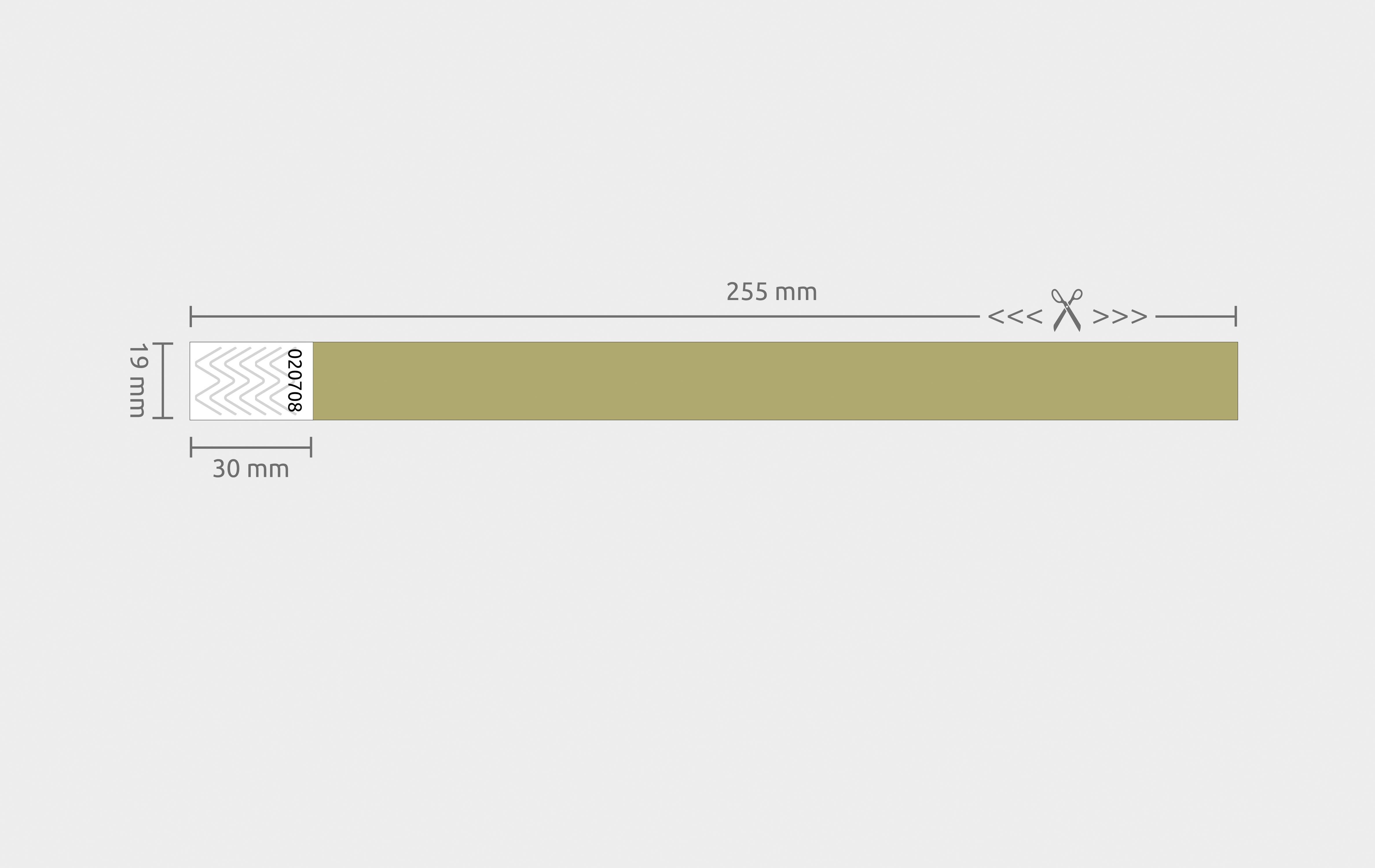 100er VPE Securebänder Tyvek® 19 mm - Gold